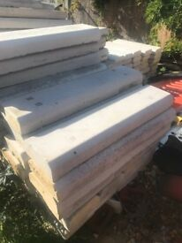 Coping stones 1meter long heavy duty only put on walk and taken straight off v good condition