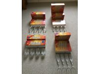 10 Sets of Lead Crystal Drinking Glasses - boxed, brand new and with original labels.