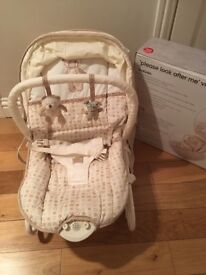 Mothercare 'please look after me' vibrating rocker, excellent condition