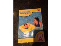 Swim safe inflatable baby float yellow bnib