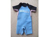 Kids Blue Rush Titanium wetsuit