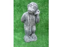 fantastic monkey on phone garden ornament £15