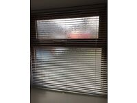 "White Venetian blind size 36 x 37"" wide, ideal for a bathroom"