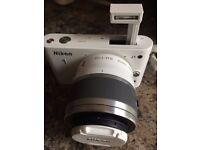 Nikon 1 J1 Camera with Nikon 1 NIKKOR VR 30-110mm f/3.8-5.6 Lens (White)