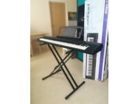 Yamaha piagerro keyboard, including stand and sustain pedal