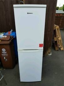 Freestanding White A+ Class Frost Free Hoover Fridge Freezer in Good Condition