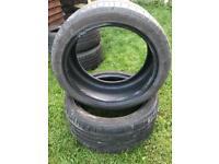 Bridgestone run flat tyre 245 40 18 part worn set if 2