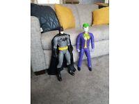"""20"""" Joker and Batman action figures"""