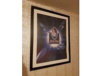 Star trek 30 years framed poster enterprise deep space 9 voyager