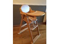 Mothercare Valencia Wooden natural highchair