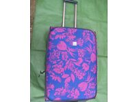 Large-Medium Dark Pink and Blue Patterned Tripp Suitcase