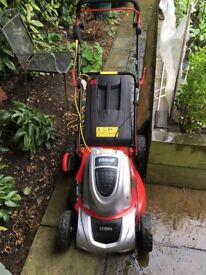 Cobra 42 cms electric lawnmower one year old