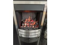 Working Gas Fireplace w/ Granite Hearth & Back