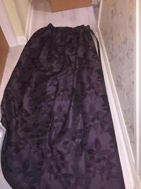 Heavy purple curtains