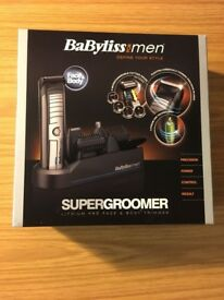Brand new Babyliss Face & Body Super groomer Trimmer Shaver