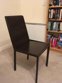 4x Italian leather dining chairs
