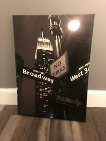 Empire State Building Street Scene Wall Art