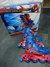 Spiderman in line skates