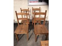 Set of 4 Mexican pine chairs