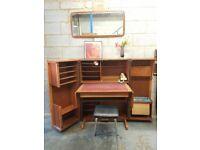 Magic Box Vintage Teak Mid Century Desk