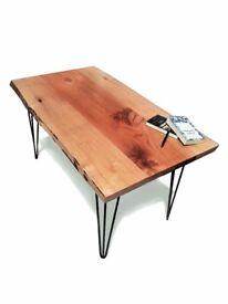 Handmade medium table made of beech wood