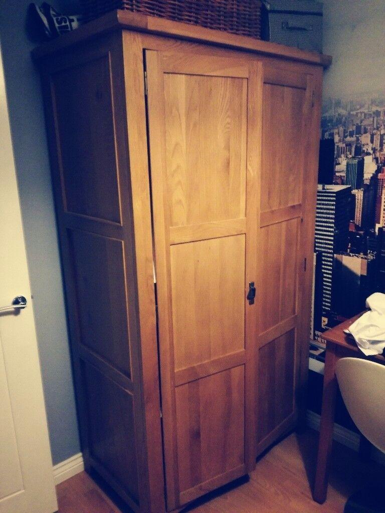 Oak wardrobe double size