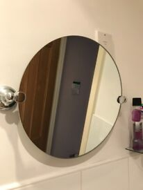 Next Round Pivoting Mirror 39cm Circumferance