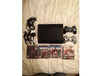 PS3 500GB with 4 games and 2 controllers