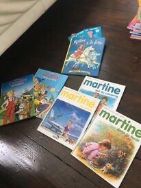 Lots of girls french books including caroline, martine etc