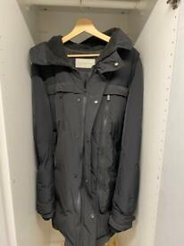 Men's Black Calvin Klein Coat. M/L... Fur hood