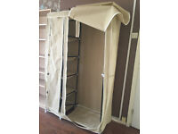 Metal frame canvase wardrobe, very light but spacious!
