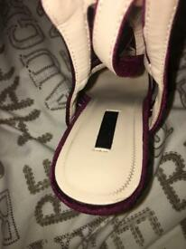 Quiz size 7 heels with matching bag