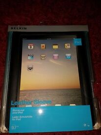Belkin IPad Leather Cover. Brand new and unopened.