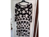 Black and White ASOS Maternity dress size 12