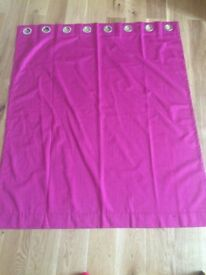 BRAND NEW PINK FUSCHIA CURTAINS