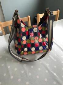 Boden oilcloth satchel bag