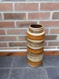 German Art Pottery Floor Vase Umbrella Stand