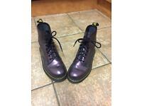 Purple Dr (Doc) Marten boots size 6, great condition