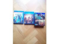 Four Bluray films (3 with 3D versions included)
