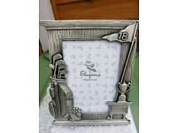 Silver look Golf Picture frame