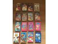 Collection of 16 Disney VHS videotapes