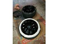"Kei-racing alloy wheels 15"" gloss black"