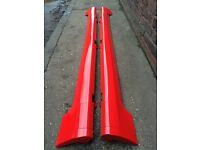 Ford Fiesta ST SIDESKIRTS with JACK POINT COVERS Red (02 - 08) Zetec S Breaking Spares mk6