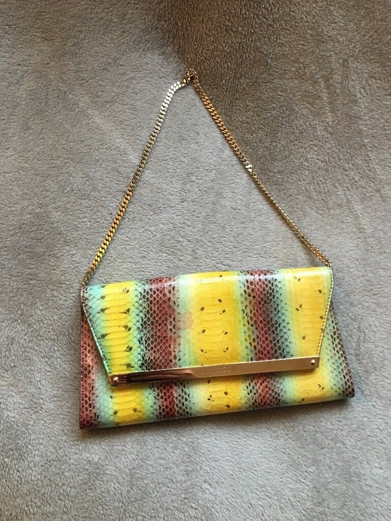 690950ccd965 Brand New Jimmy Choo Rainbow Watersnake Clutch Bag