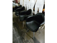 4 x Charles Ray Eames Eiffel Inspired Dining Chair Retro in Black
