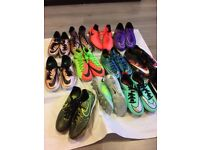 Football shoes deferent size