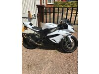 Zx6r in white with low miles!! Bargain