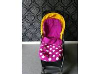 Mamas and Papas Pink Polka Dot Foot Muff