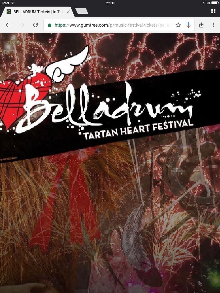 Belladrum weekend tickets x2in Ardgay, HighlandGumtree - Two weekend adult tickets for Bella in August, will sell separately for £135 each, and can also give you a child ticket too if needed, only selling as two of my group cant go, but I will be there