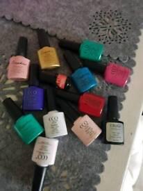 lot of Soak off nail polish various colors